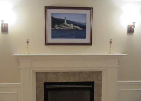 Lighthouse painting step 10: Installed in customer's home